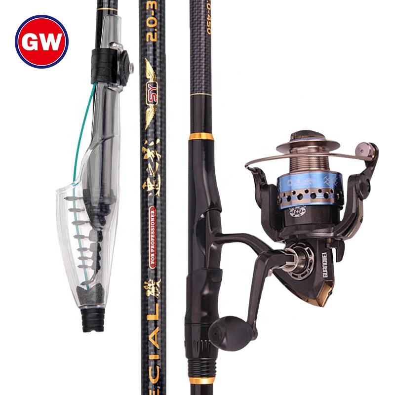 GuangWei GW out door ultra heavy X cross fiber carbon telescopic rod OEM rock fishing rod wholesale