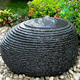 Outdoor Landscape Natural Stone Water Feature Ornamental Cheap Round Corner Ball Fountain
