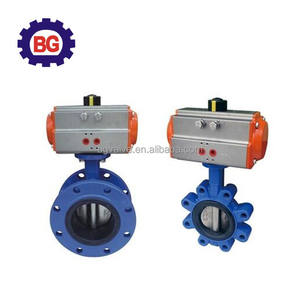 single flange double flange pneumatic Powder Butterfly valve