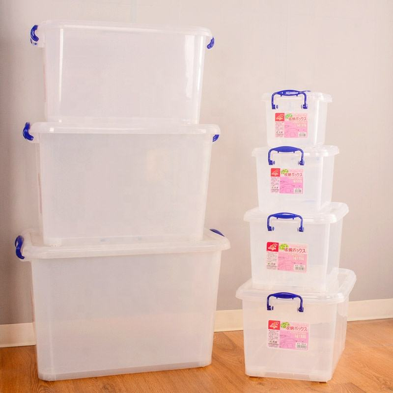 Multi purpose custom made wholesale 6L-20L-50L -100L Plastic Storage Box