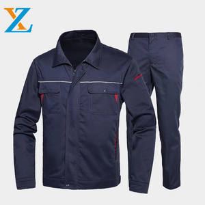 Custom high quality professional factory welding work suit mechanic worker uniform