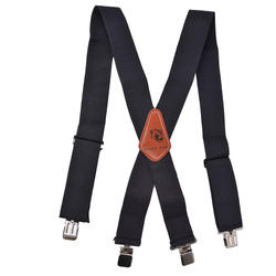 Adjustable X-Back Shape Solid Color Suspender with 4 Strong Clips for Heavy Duty Work Adjustable Suspenders