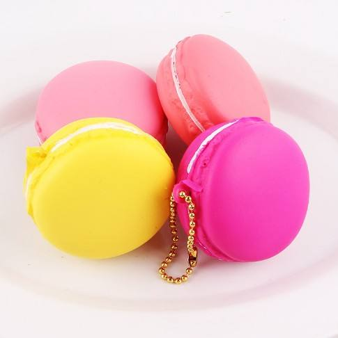 Mskwee Coloful Macaron Cookies Squishy Slow Rising Biscuit Squishy PU Foam Soft Squeeze Squishies Toys Phone Straps Gift For Kid