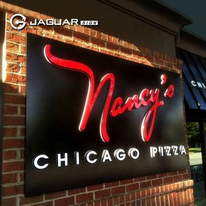 Pizza shop signs outdoor decorative acrylic light letter storefront sign