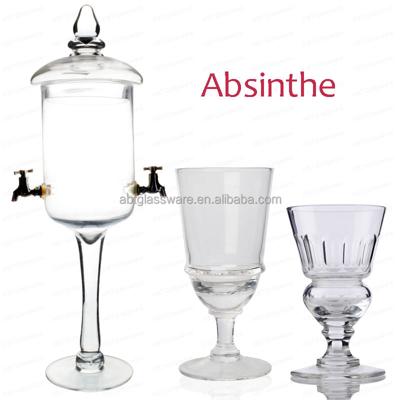 Glass Absinthe Fountain 1.2ltr Absinthe Fountain for Preparing and Serving Absinthe