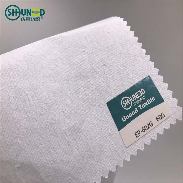 Garment Embroidery Backing Hot Sell 100% Cotton Embroidery Backing Paper Easy Tearaway Non Woven Fabric For Fashion Dress And Other Garment