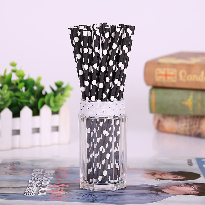 Original factory reusable natural eco-friendly full color drinking striped paper straws