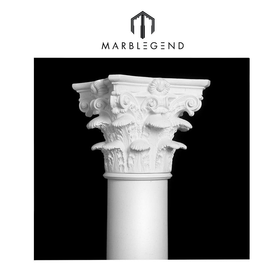 PFM nice carvnig decorative stone marble column