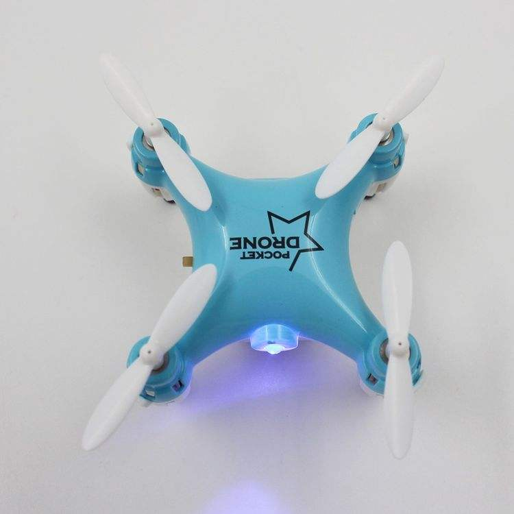 2996058-Mini Pocket Drone 2.4G 4CH 6Axis Gyro RC Quadcopter with Switchable Controller RTF