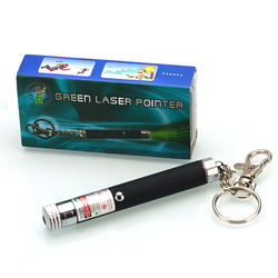 10mW Mini Safe Red Green light Pet Cat Laser Pointer with Keychain