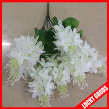 peronized cream white decorative artificial flower bunch for wedding