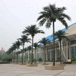 Yafei mass production plastic artificial date palm coconut tree artificial palm tree for outdoor exterior