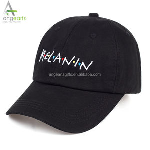 2018 new arrival MELANIN letter embroidery baseball cap women snapback hat adjustable men fashion Dad hats wholesale