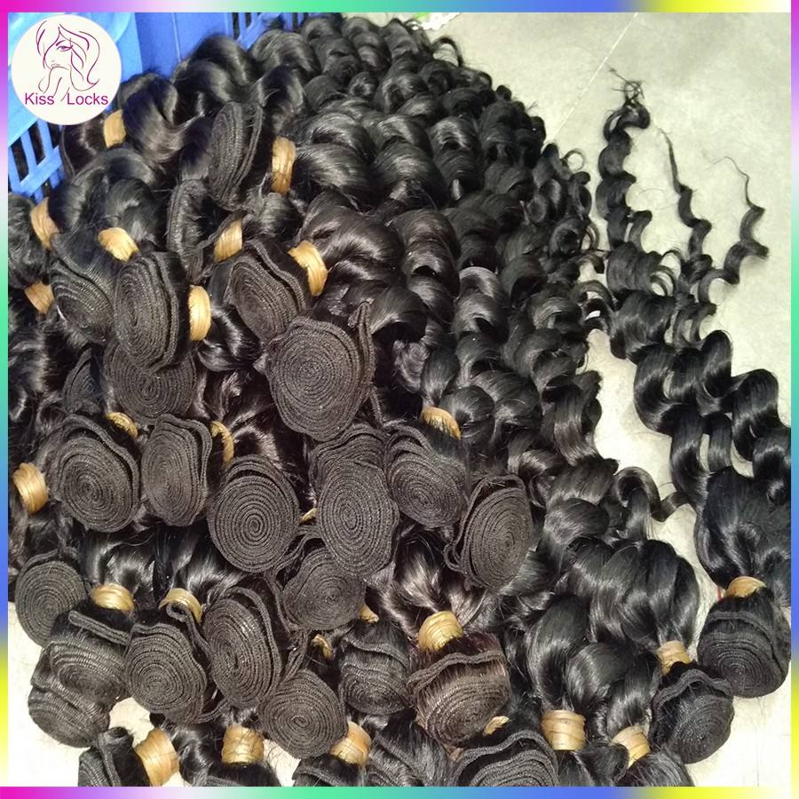 Fantastic Alibaba Passion Weave Zone 100% natural loose curly wavy wave Virgin Mongolian Exotic Hair Extension 2kg/lot Wholesale