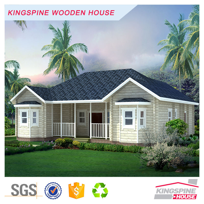 Prefabricated wooden house prefab log wooden house india price made in china