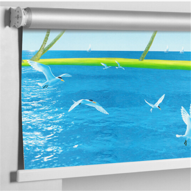 Profitable for businessman price New arrival 3d printed blackout roller blind sunscreen fabric