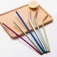 Drinking Straws Straw Eeo-friendly Reusable Metal Drinking 304 Straws Stainless Steel Straw Set With Customized Logo