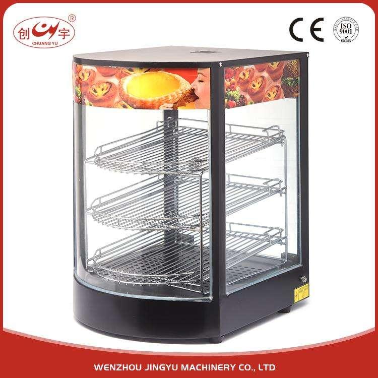 Chuangyu Trung Quốc Nhà Máy Sản Xuất Thiết Bị Nhà Bếp Electric Warmer Hiển Thị Showcase Cho Thức Ăn Nóng