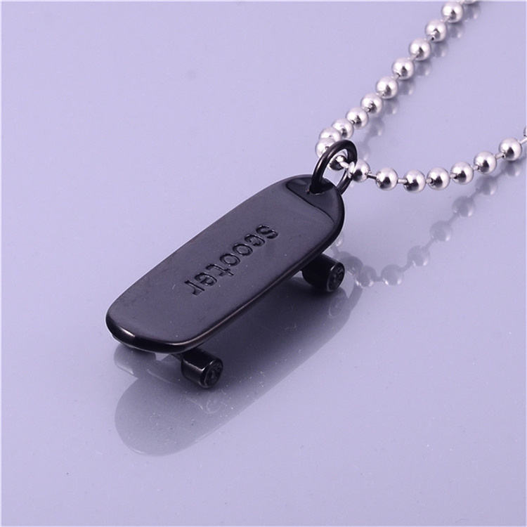 Black Stainless Steel Jewelry Design Stylish Scooter Pendant
