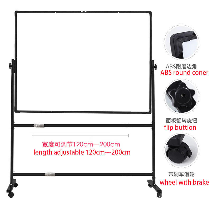 Large Mobile Magnetic White Board With Stand Double Sided Dry Erase Portable Whiteboard