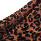 Black knitted four way stretch leopard print burnout velvet fabric for dress