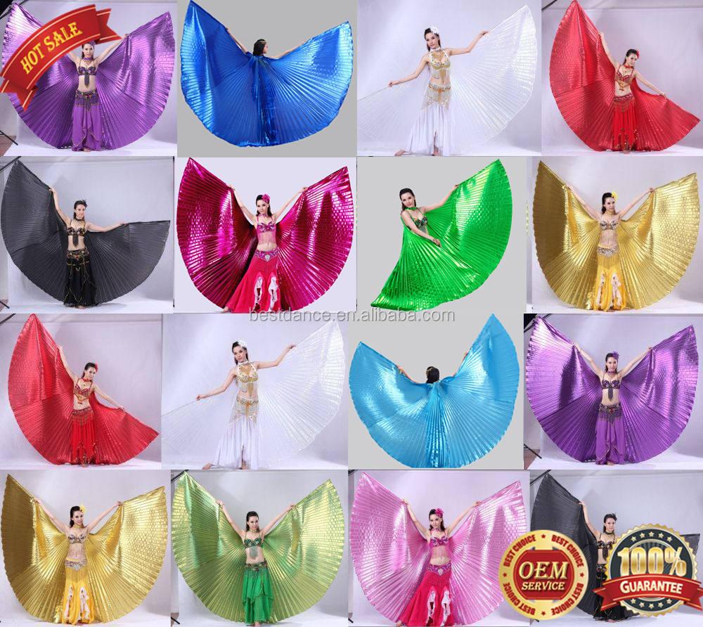 US Kids Belly Dance Costume Isis Wings Egyptian Dance Fancy Wings/&Sticks/&Bag