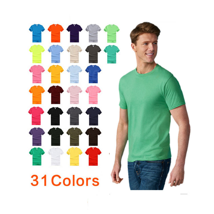 2020 100% Cotton apparel Basic Custom printing oem logo plain blank men T Shirt