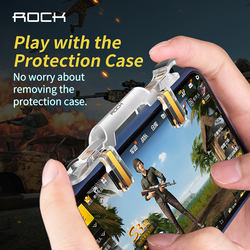 ROCK shooting game controller for mobile game,98K trigger true shooting experience,
