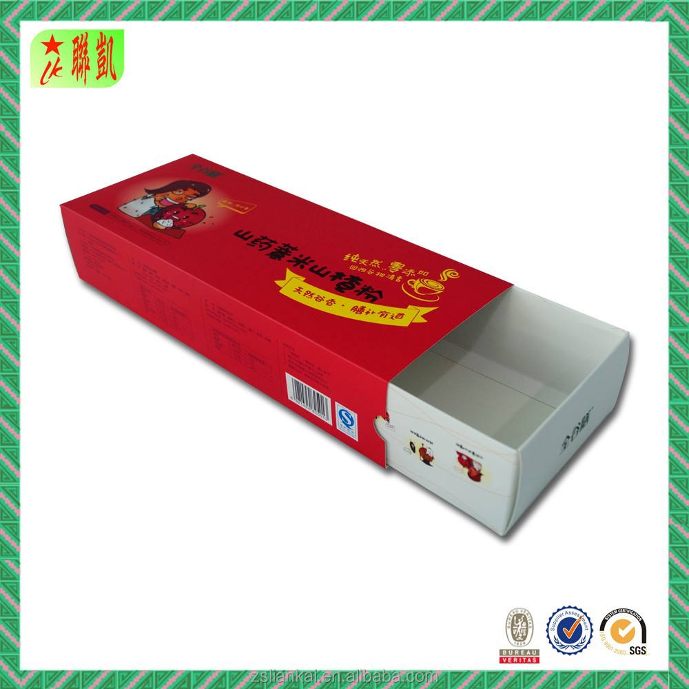 Fancy paper cardboard drawer box printed box sleeves
