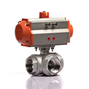 KLQD brand Q614F China made 2 inch stainless steel pneumatic water 3 way ball valve