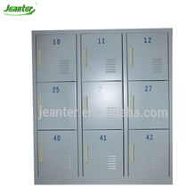 Galvanized Sheet School/SPA/Gym Storage 9 Door Steel Locker/Cupboard/Cabinet