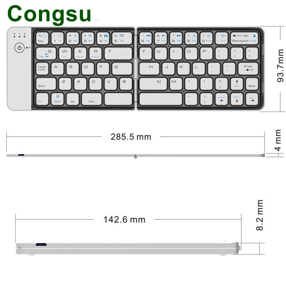 Premium Aluminum Wireless Phone Keyboard For iPhone Samsung