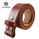 Snap Belt Strap Full Grain Leather Belt Without Buckles