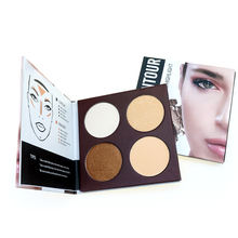 Wholesale 4 Color Highlighter Palette High Pigment Face Contour