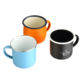 Promotional eco friendly coffee travel sublimation cup wholesale drinking camping ceramic cup enamel mug with lid handle