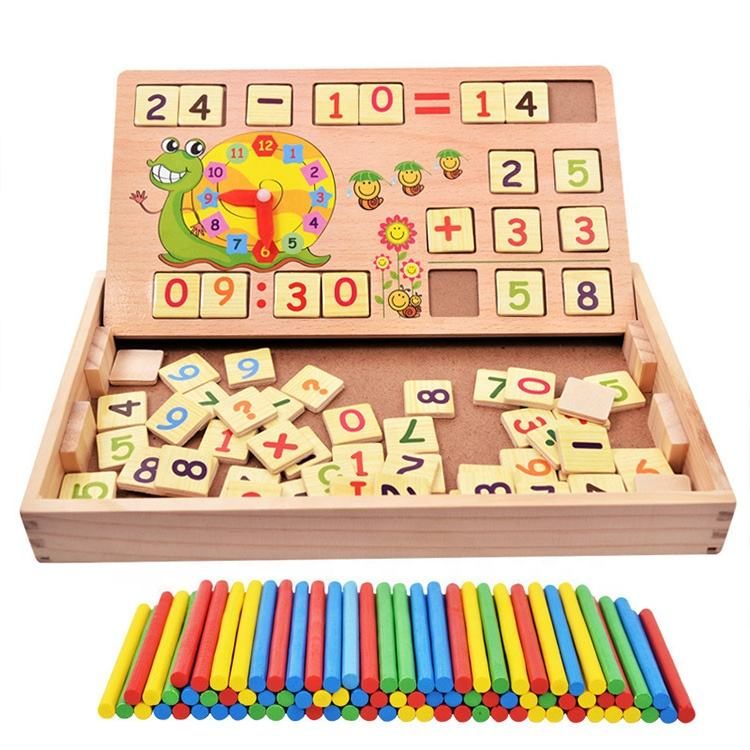 Teaching Multi-Function Montessori Material Digital Computing Box educational wooden math toys