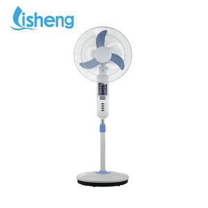 18 inch 15w 12V dc fan energy-saving solar pinsel motor stand fan mit LED licht