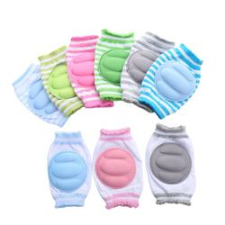 adjustable breathable waterproof safety baby knee pads for crawling with stripe pattern