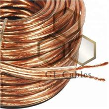 CCA 1.5mm stranded CCA wireTransparent Speaker Cable