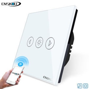 Cnskou EU/UK Standard 1 Gang Wand Schalter Touchscreen Smart Home Wi-fi Dimmer Schalter