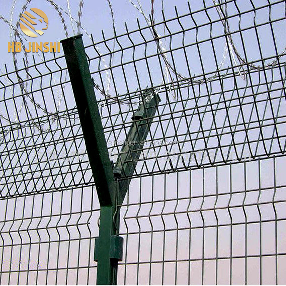 Pvc coating Welded wire msh Airport fence security netting