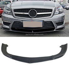 For W218 Carbon Fiber Front Lip Spoiler For Benz CLS Class CLS300 CLS350 2012-2015 V Style Car Bumper Chin Guard