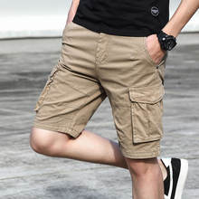 Custom cotton cargo shorts men's casual shorts
