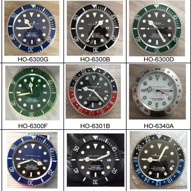 High quality wholesale luxury wrist watch wall clock decorative wall clock
