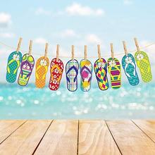 YISHU Hawaii Themed Summer Party Slipper Garland Banner Unique design custom 15 pcs in