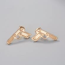 Vintage Men Jewelry Gold Gun Earrings For Women Girls Harajuku Cool Nice Gift Stud Men Earrings
