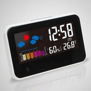 KH-CL003 Natal Elektronik Countdown OLED Alarm Kristal Meja Bus Digital Pintar Baru Jam CE Weather Station