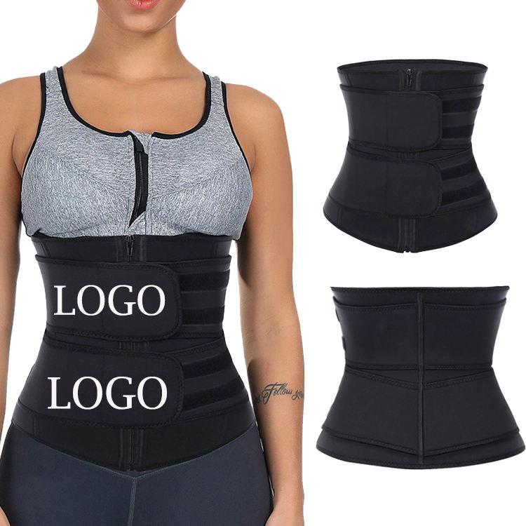 Feelingril látex de alta calidad logotipo doble cremallera cuerpo Shaper mujeres adelgazamiento de la <span class=keywords><strong>cintura</strong></span> entrenador