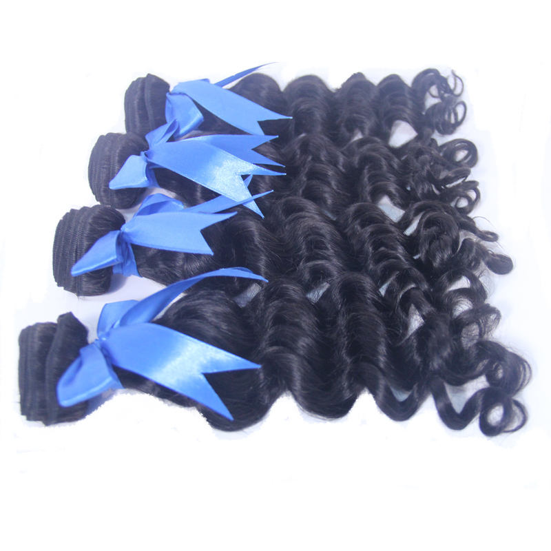 Tenlon top Grade fashion Indian hair weft hair extension tied hard high quality