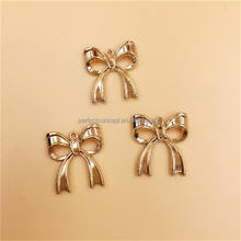 DIY Wholesale Gold Ribbon Bow Charm Phone Charm 424